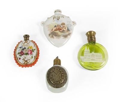 Lot 23 - Four Various Scent-Bottles, comprising: a...