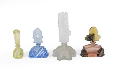 Lot 32 - Four Differing Glass Scent-Bottles, First...