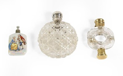 Lot 33 - A Victorian Silver-Gilt Mounted Glass...