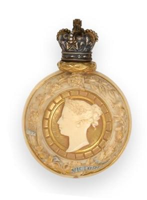 Lot 36 - A Royal Worcester Porcelain Scent-Bottle With...
