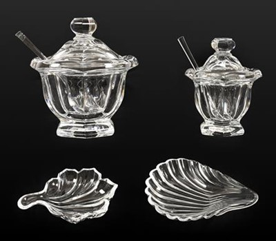 Lot 63 - A Set of Four Baccarat Glass Shell Dishes,...