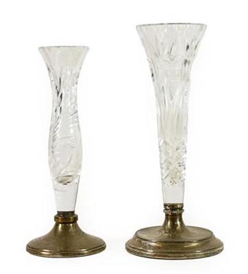 Lot 65 - A Silver Mounted Glass Stem Vase, Birmingham...