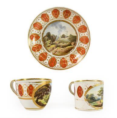 Lot 80 - A Derby Porcelain Trio, circa 1780, painted...