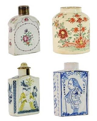 Lot 88 - A Creamware Tea Canister, circa 1775, of...