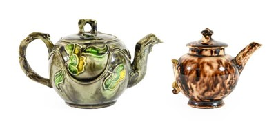 Lot 89 - A Whieldon Type Earthenware Miniature Teapot...