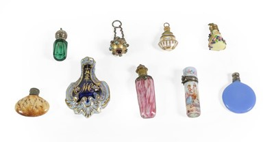Lot 9 - A Collection of Nine Miniatures Scent-Bottles:...