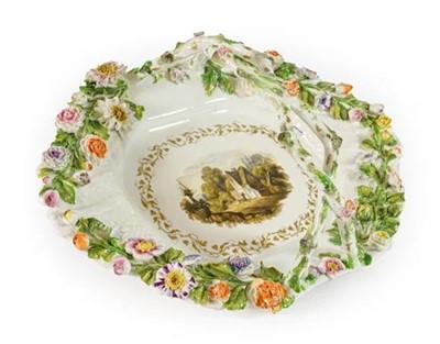 Lot 94 - A Rockingham Porcelain Basket, 1830-42, of...