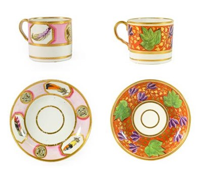 Lot 97 - An English Porcelain Coffee Can and Saucer,...