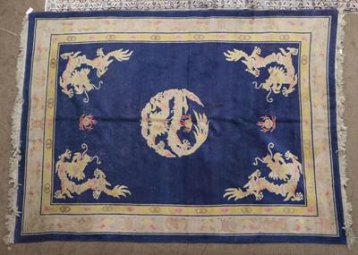 Lot 492 - Chinese Carpet, circa 1925 The indigo field...