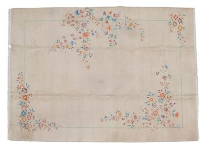 Lot 499 - Chinese Carpet, circa 1930 The fawn field...