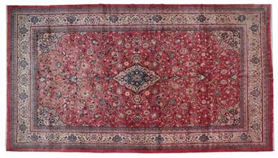 Lot 522 - Saroukh Carpet West Iran, circa 1960 The faded...