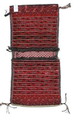 Lot 527 - Unusual Turkmen Part Silk Khorgeen Probably...