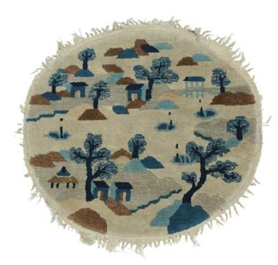 Lot 533 - Chinese Roundel Rug, circa 1920 The ivory...