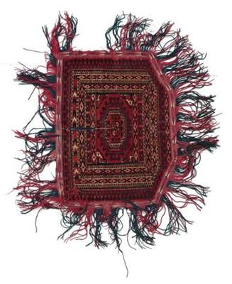 Lot 536 - Tekke Saddle Rug Emirate of Bukhara, circa...