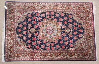 Lot 487 - Ghom Silk Rug Central Iran, 2nd half 20th...