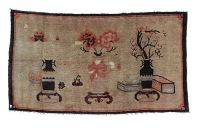 Lot 544 - Chinese Rug, circa 1925 The pale tan field of...