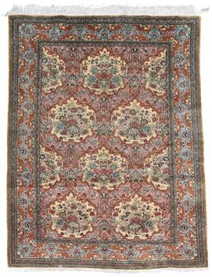 Lot 552 - Quom Silk Rug Central Iran, circa 1980 The...