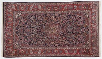 Lot 554 - Kashan Rug Central Iran, circa 1930 The indigo...