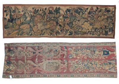 Lot 558 - Flemish Border Tapestry Fragment, 17th century...