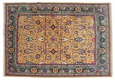 Lot 560 - Veramin Carpet Central Iran, modern The lemon...