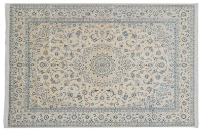 Lot 489 - Nain Carpet Central Iran, circa 1970 The cream...