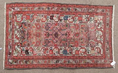 Lot 563 - Kurdish Rug West Iran, circa 1930 the Herati...