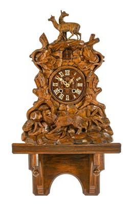 Lot 572 - A Black Forest Cuckoo Bracket Clock, circa...