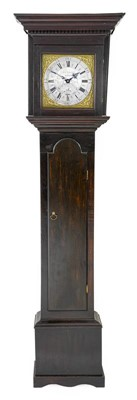 Lot 575 - A Painted Pine Thirty Hour Longcase Clock,...