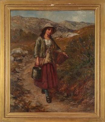 Lot 360 - Edward John Cobbett (1815-1899) Country girl...