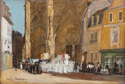 Lot 370 - George Thomson NEAC (1860-1939) ''The...