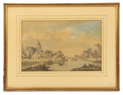 Lot 375 - Theodor (Dirk) Verryck (1734-1786) Dutch River...