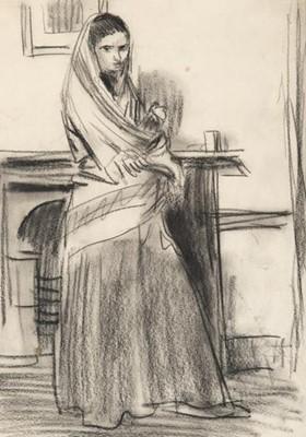 Lot 377 - Augustus Edwin John OM RA (1878-1961) Sketch...