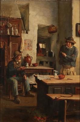 Lot 379 - J Pratt (19th century) The Discussion Signed,...