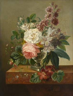 Lot 380 - French School (Late 19th century) A still life...