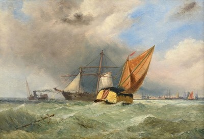 Lot 392 - William Adolphus Knell (1801-1875) ''Shipping...