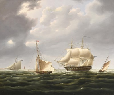 Lot 397 - English School (19th/20th century) Ships off...