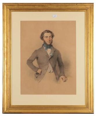Lot 403 - L Gilbert (mid 19th century) Portrait of a...