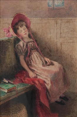 Lot 404 - William Henry Hunt (1790-1864) ''Fast asleep''...