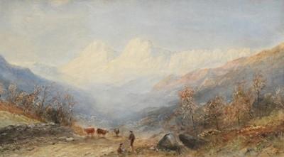 Lot 407 - E Tucker (19th century) Highland lansdcape...
