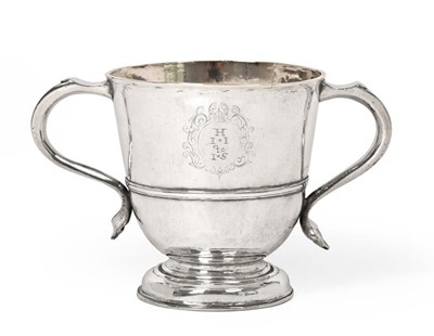 Lot 2020 - A Queen Anne Provincial Silver Two-Handled Cup,...