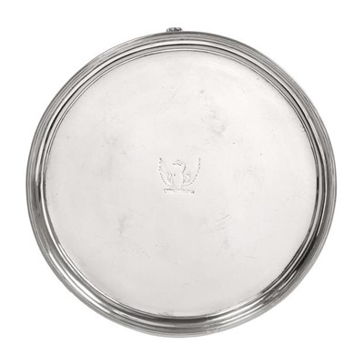 Lot 2021 - A George III Provincial Silver Waiter, by...