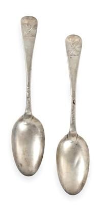 Lot 2030 - Twelve George II Silver Table-Spoons, Ten by...