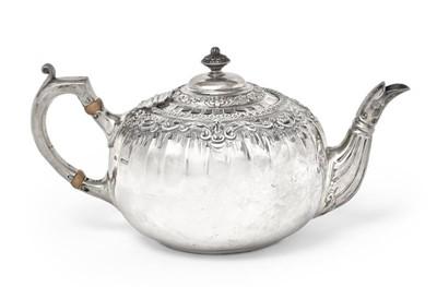 Lot 2044 - An Edward VII Silver Teapot, James Dixon and...