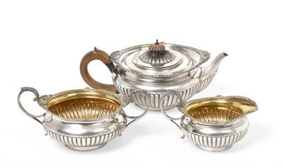 Lot 2047 - A Three-Piece Victorian Silver Tea-Service, by...