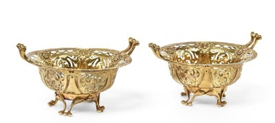 Lot 2048 - A Pair of Victorian Silver-Gilt...