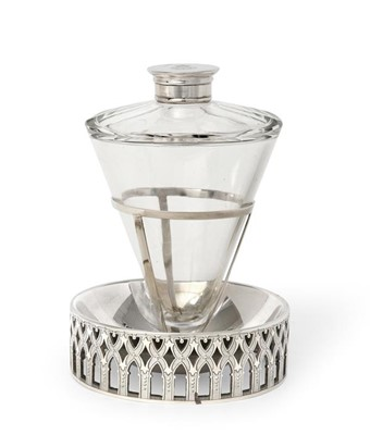 Lot 2051 - A Victorian Silver-Mounted Glass Bottle and...