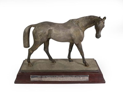 Lot 2052 - A Silver Plate Model of a Horse, Modelled by...