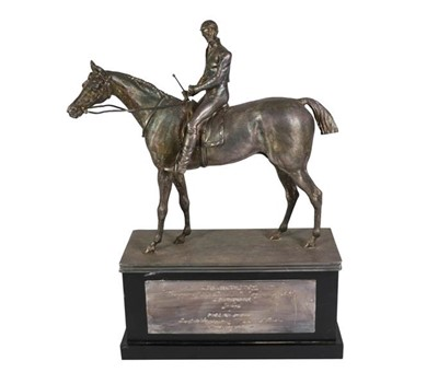 Lot 2054 - A Silver Plate Model of The Thoroughbred...
