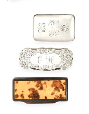 Lot 2061 - A George III Silver Snuff-Box and a Victorian...
