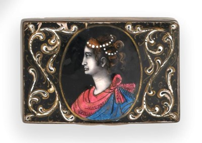 Lot 2064 - A Victorian Silver-Mounted Limoges-Style...